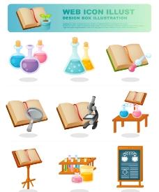 矢量科学实验图标图片
