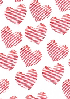 红色爱心无缝背景设计
