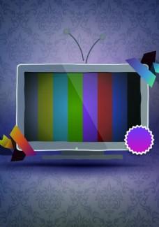 复古电视背景装饰