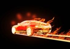 火焰汽车图片