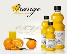 橙汁瓶图片