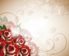 玫瑰花底纹背景图片