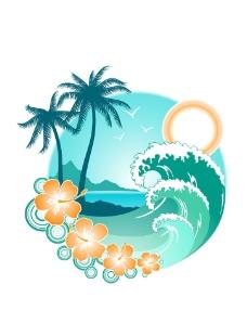 热带风景背景图片