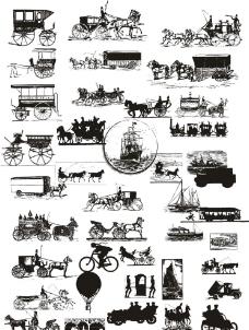 矢量马车图片