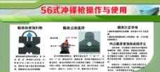 56式冲锋枪操作使用展板图片