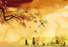 水彩手绘风景图片