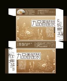 九品香莲茶包装设计图片