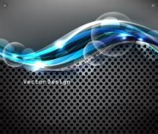 动感蓝色潮流线条图片