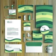 高档绿色vi设计模板图片