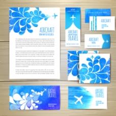 旅行社夏季旅行VI设计图片