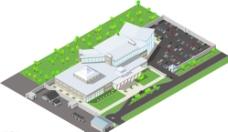 3d建筑图标图片