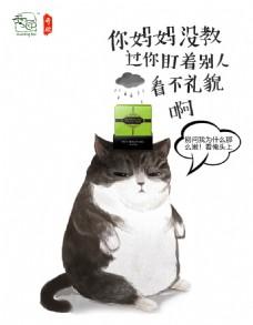 开脸清洁猫
