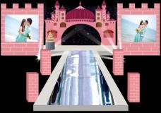 粉色系婚礼布置