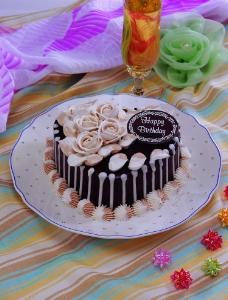 心形巧克力蛋糕图片