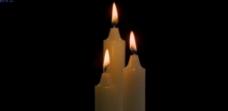 白色蜡烛燃烧视频素材