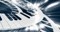 无限循环钢琴键盘背景视频素材