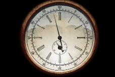 走动的复古钟表视频素材
