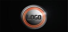 车轮高速旋转logo演绎动画AE模板