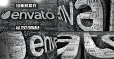 创意文字logo演绎AE模板