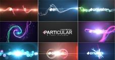 8组多彩炫丽粒子光线logo演绎AE模板