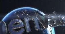 超级地球Logo演绎动画AE模板