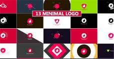 13组扁平化风格logo演绎AE模板