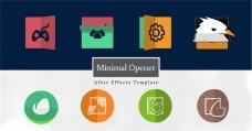 创意简洁logo演绎动画AE模板
