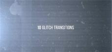 10组科幻撕裂转场动画AE模板