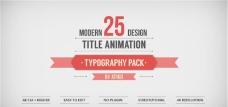 标题设计动画字体包AE模板