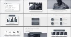 大气企业公司演示动画AE模板