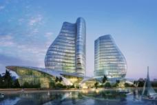濱水 建筑 設計效果圖圖片