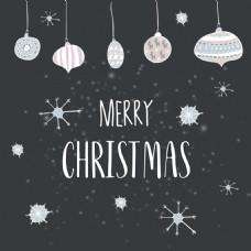 圣诞星空冬天卡通矢量素材