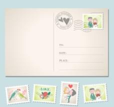 情人节明信片图片