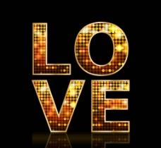 love金色字体图片