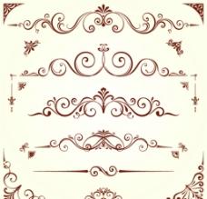 欧式花纹花边分割线图片