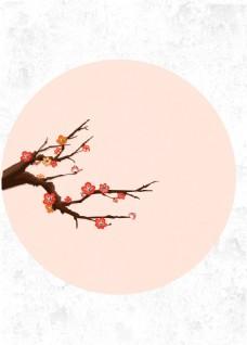 矢量秋季枫叶圆框背景