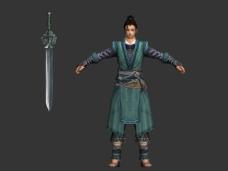 剑三俗家弟子模型