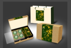 茶叶礼盒包装(效果图)图片