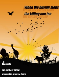 野生动物公益性广告图片