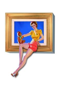 立体人物油画