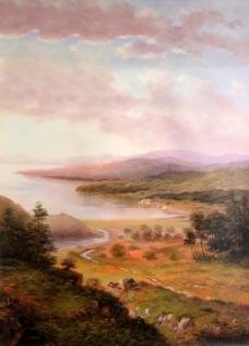 森林风景油画装饰画