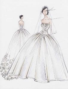蓬蓬裙婚纱设计