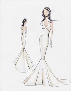 鱼尾婚纱设计