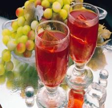 酒杯 冰晶画图片