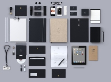 VI设计提案模版智能贴图效果图样机