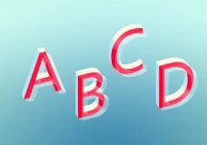 特效立体英文字母