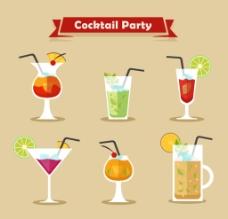 夏日饮料酒水图标图片
