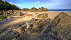 海边沙滩礁石