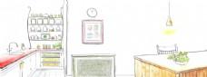 卡通厨房背景设计
