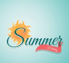 夏日假期 艺术字图片
